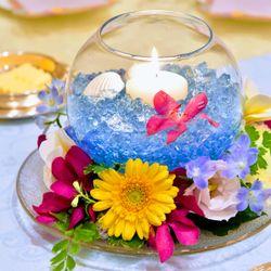 装花、ウェディングケーキの写真 2枚目