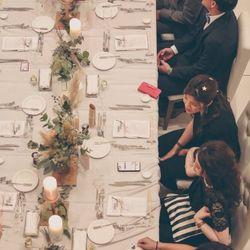流しテーブル ゲストテーブル装花の写真 3枚目
