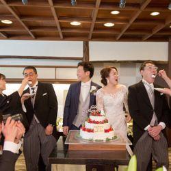 ウェディングケーキ&ファーストバイトの写真 1枚目