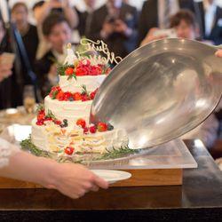 ウェディングケーキ&ファーストバイトの写真 3枚目