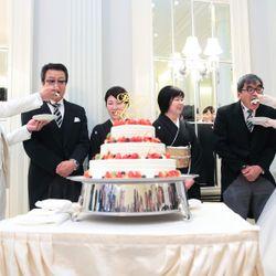 ケーキ入刀&ファーストバイトの写真 5枚目