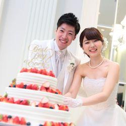 ケーキ入刀&ファーストバイトの写真 6枚目