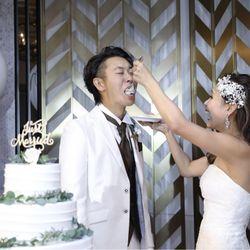 ケーキ入刀&ファーストバイトの写真 4枚目