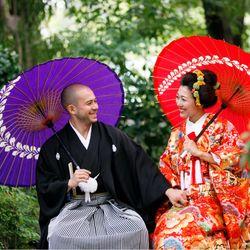 和装前撮り(増上寺・ニューオータニ庭園)の写真 2枚目