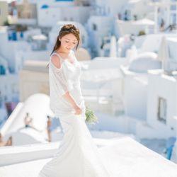 サントリーニ後撮り 新婚旅行の写真 4枚目