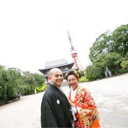和装前撮り(増上寺・ニューオータニ庭園)の写真 5枚目
