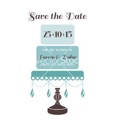 Wedding Cake Invitation - Save the Date - for design, scrapbook