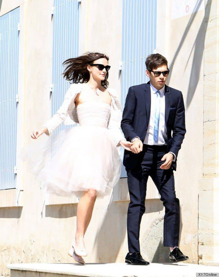 USA-AUS ONLY Keira Knightley and James Righton arriving at the Mazan Town
