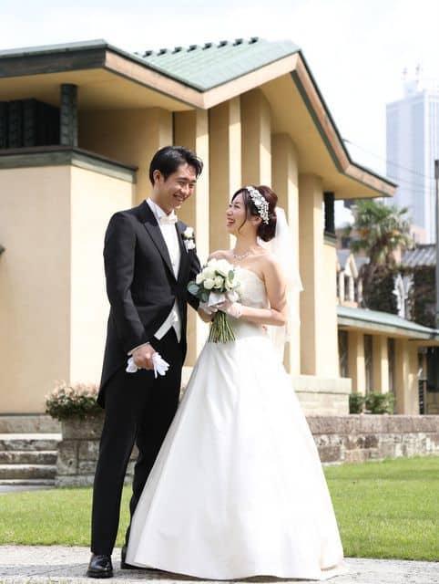 自由学園明日館での結婚式―笑顔