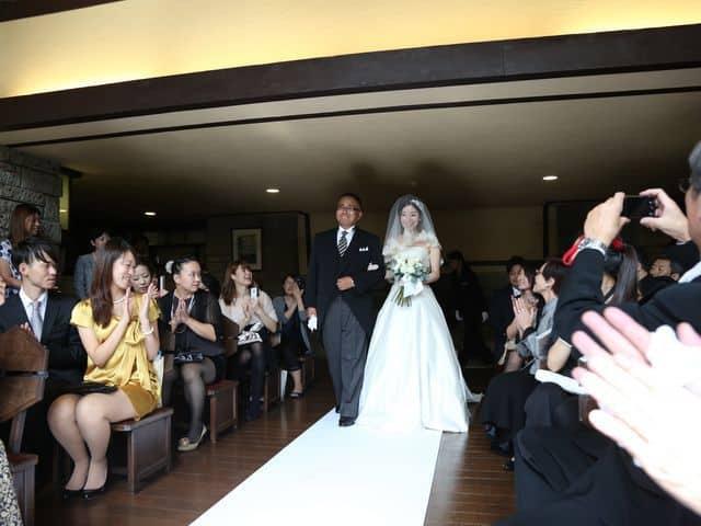 自由学園明日館での結婚式―バージンロード