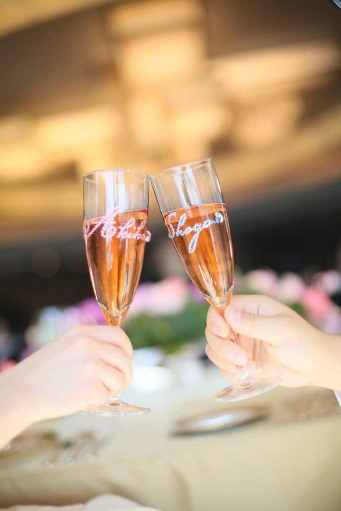 シャンパングラス デコレーション 結婚式