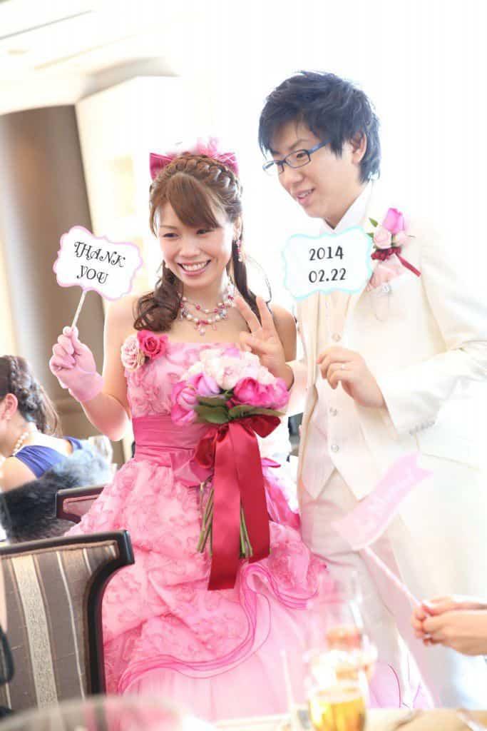 インターコンチネンタル東京 ピンクのカラードレス