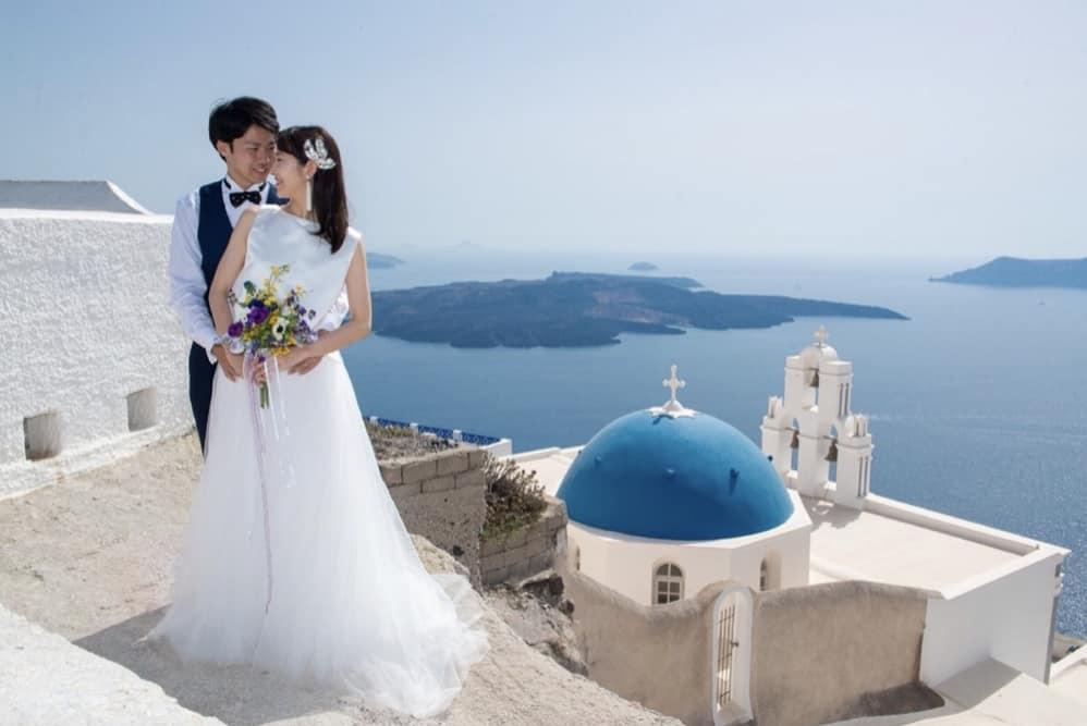 青と白の神秘の国ギリシャハネムーンへ! | 結婚式準備はウェディング ...