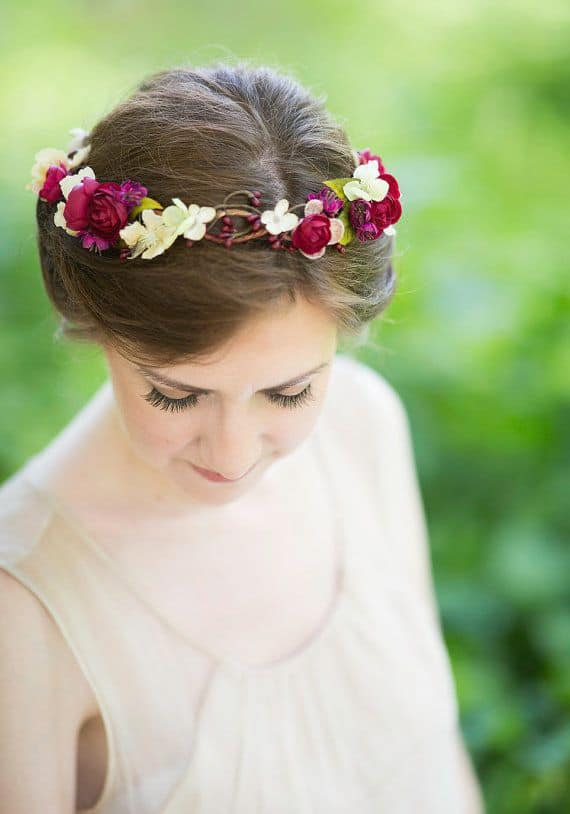 rustic-wedding-bridal-hair-accessory-floral-headpiece-burgundy-flower-red-hair-accessory-olevia-ivory-olive-green-wedding-hairpiece-new