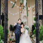 夏らしいグリーンを取り入れたヴィンテージが素敵!【mamico_weddingさん】山手迎賓館
