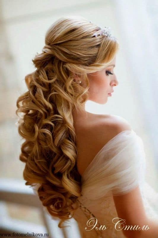 Fine Wedding Hairstyles Down With Tiara With New Hairstyle - Dodies