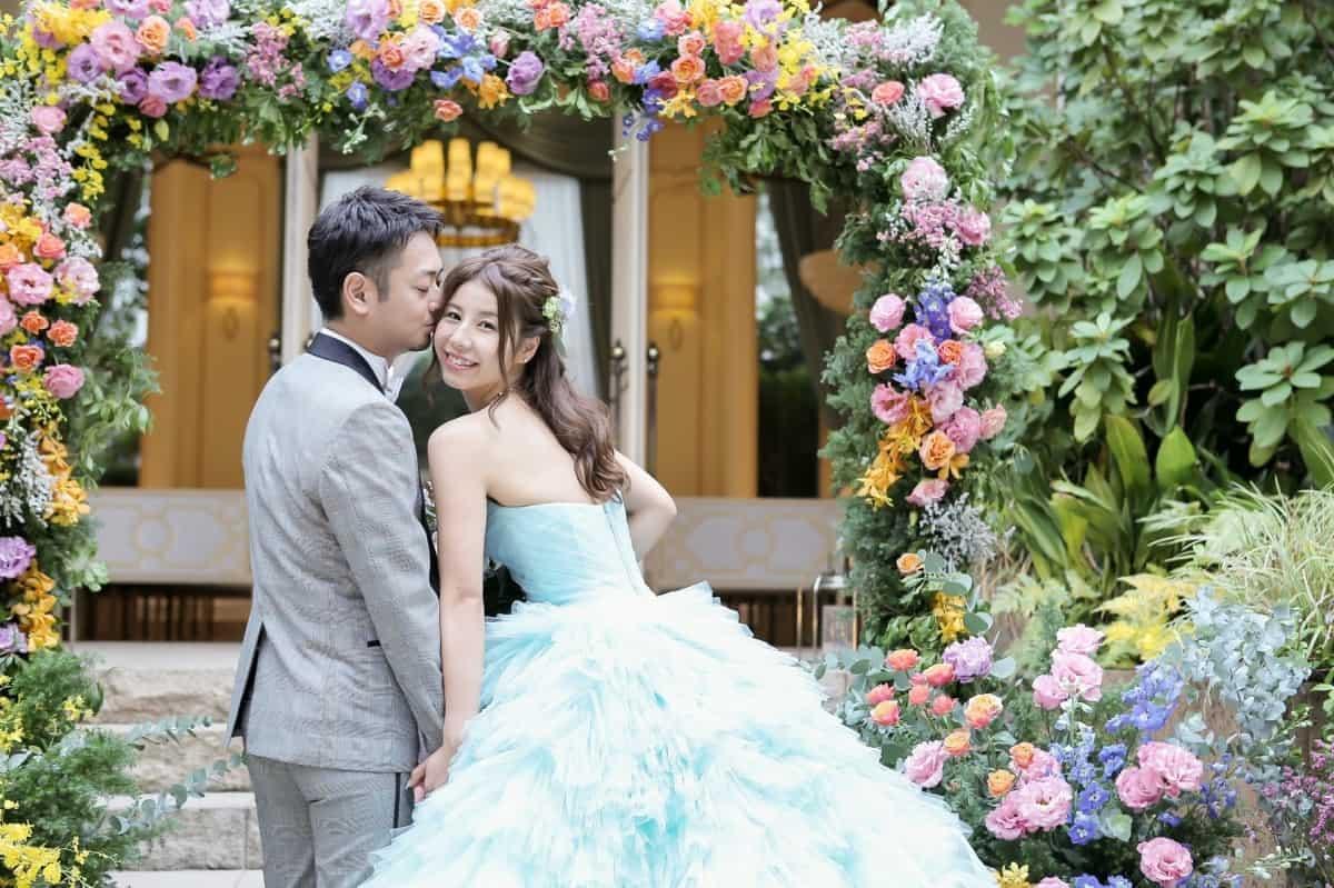 ティファニーカラーで結婚式を爽やかに、オトナに*のカバー写真 0.6658333333333334