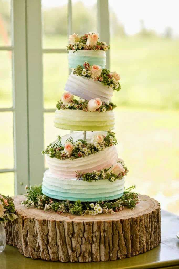 rustic-pastel-buttercream-wedding-cakes-with-wildflowers-and-roses-682x1024