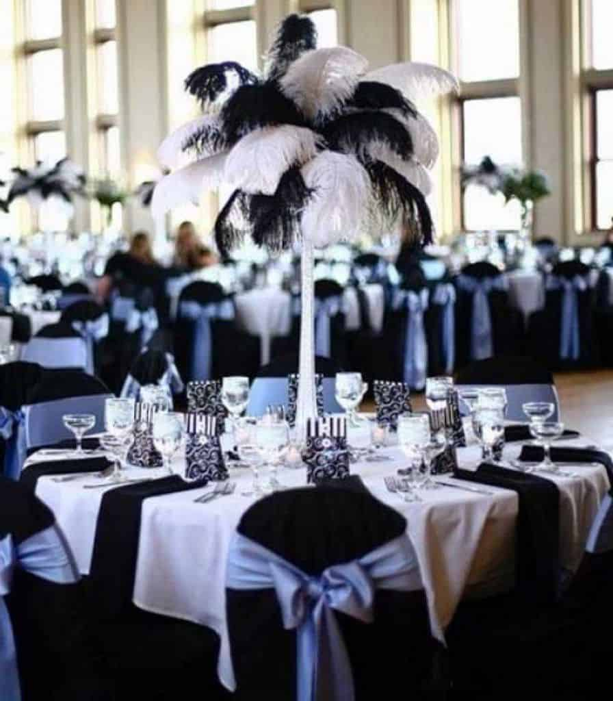 black-and-white-feather-centerpieces-55349ede3065e