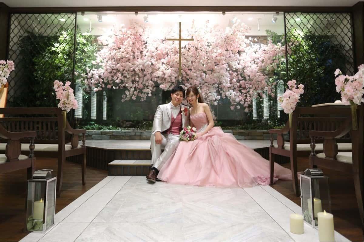 """【桜】を取り入れたウェディングで""""日本""""を感じる癒しのひとときに♡のカバー写真 0.6666666666666666"""