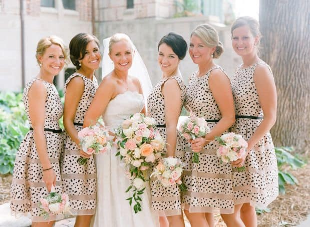 polka_dot_bridesmiad_dresses_james_hill_reference_library_minnesota_wedding_colors_blush_black_spring_15