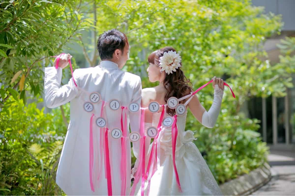 DIY花嫁へ贈る♡ウェディングアイテムで使うリボンの長さを解説☆*のカバー写真 0.6666666666666666