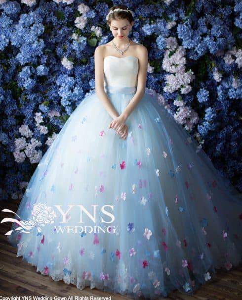 【オーバースカート・トレーン】YNS WEDDINGドレスカタログ*のカバー写真