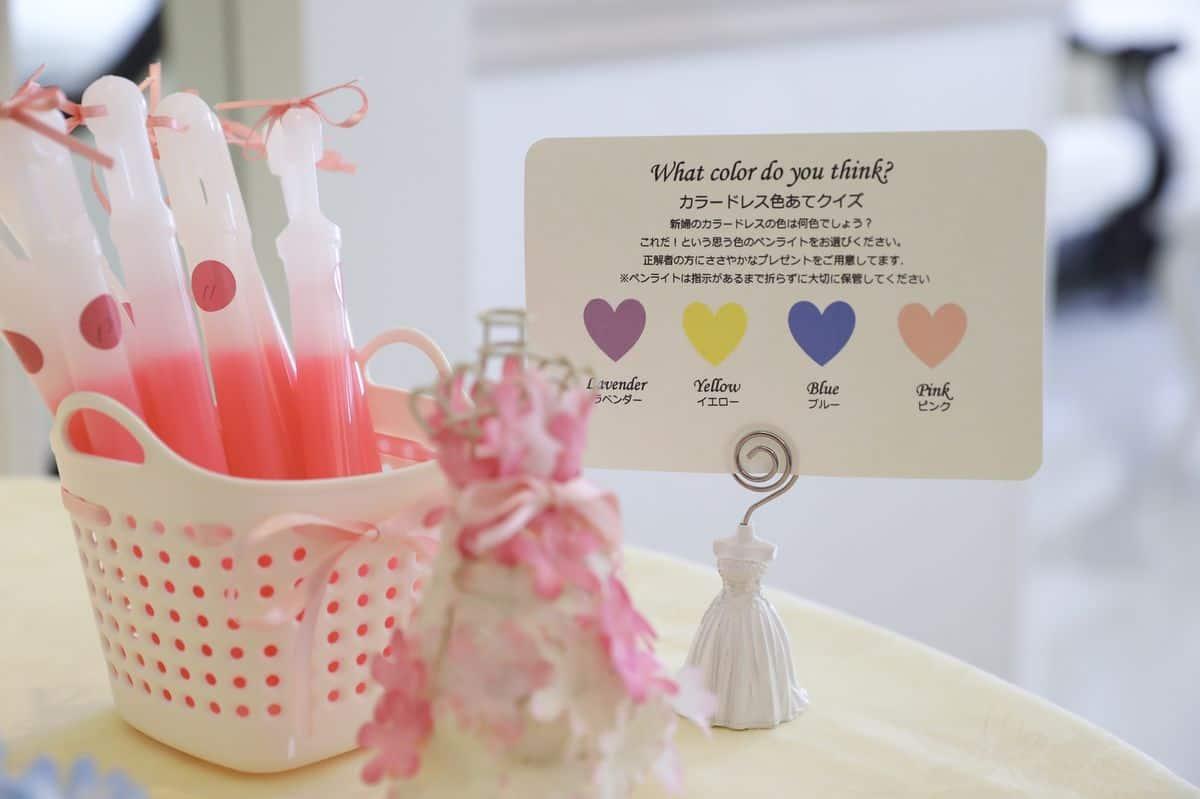 花嫁さんに大人気の演出♡ドレス色当てクイズで使える真似したいアイデア15選**のカバー写真 0.6658333333333334