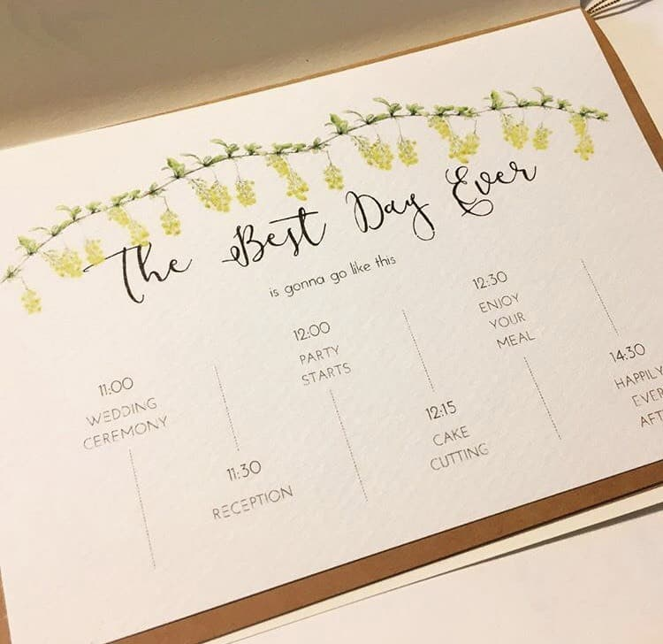 招待状と一緒に渡したい♡タイムラインカードのデザイン15選**のカバー写真