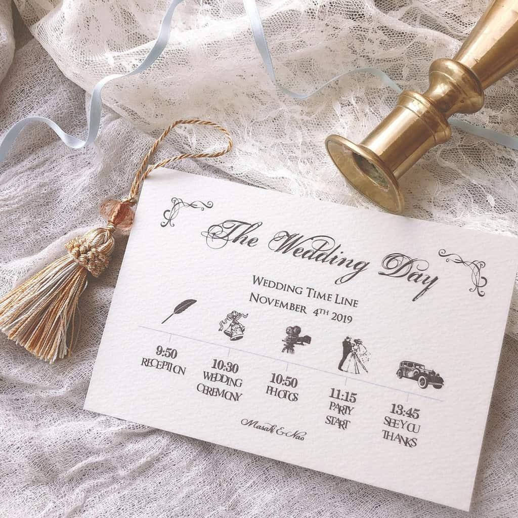 招待状と一緒に渡したい♡タイムラインカードのデザイン15選**のカバー写真 1