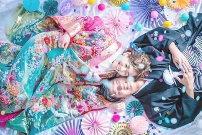 和婚も前撮りも【色打掛】が人気♡柄や色別で選ぶコーディネート♪のカバー写真