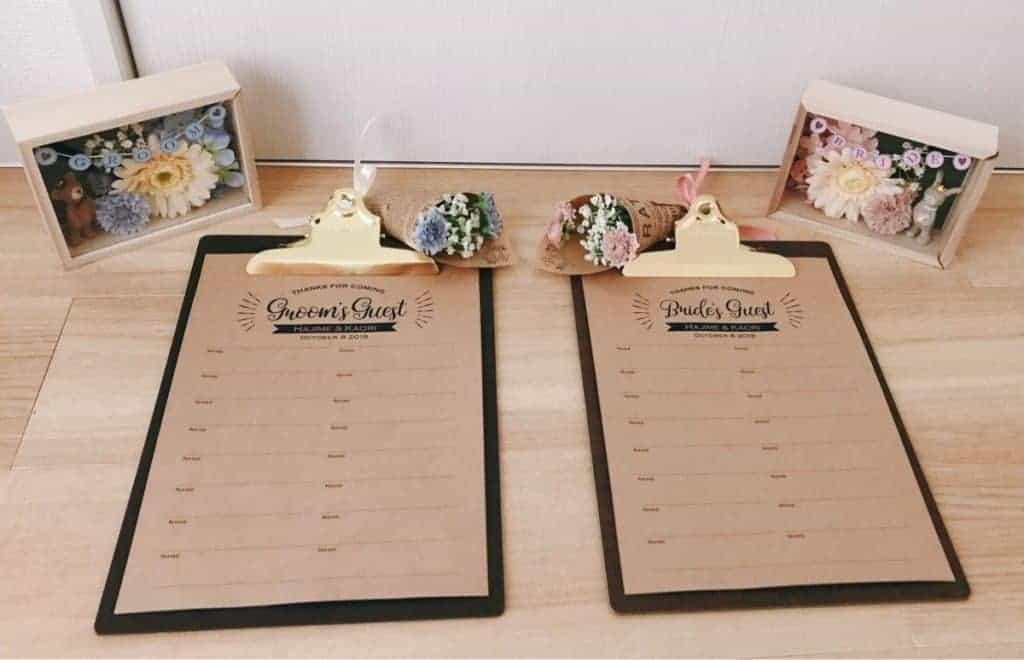 結婚式の芳名帳とは?おすすめアイテム*無料テンプレート*作り方をまるっと紹介♡のカバー写真