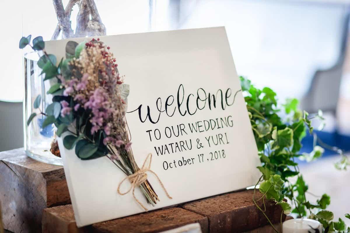 結婚式のウェルカムボードに使える♡おすすめの文例&文字(フォント)をご紹介*のカバー写真 0.6658333333333334