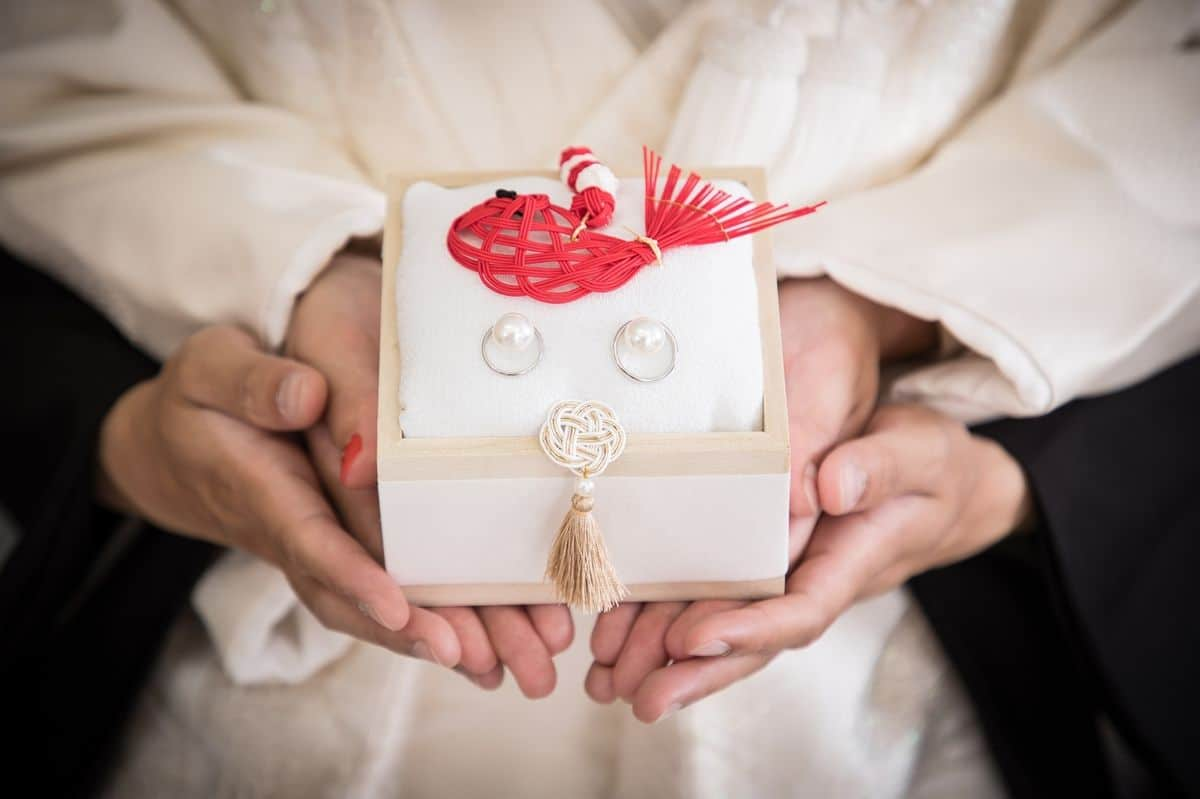 和婚さんにオススメ♡和風リングピローデザインと作り方*のカバー写真 0.6658333333333334