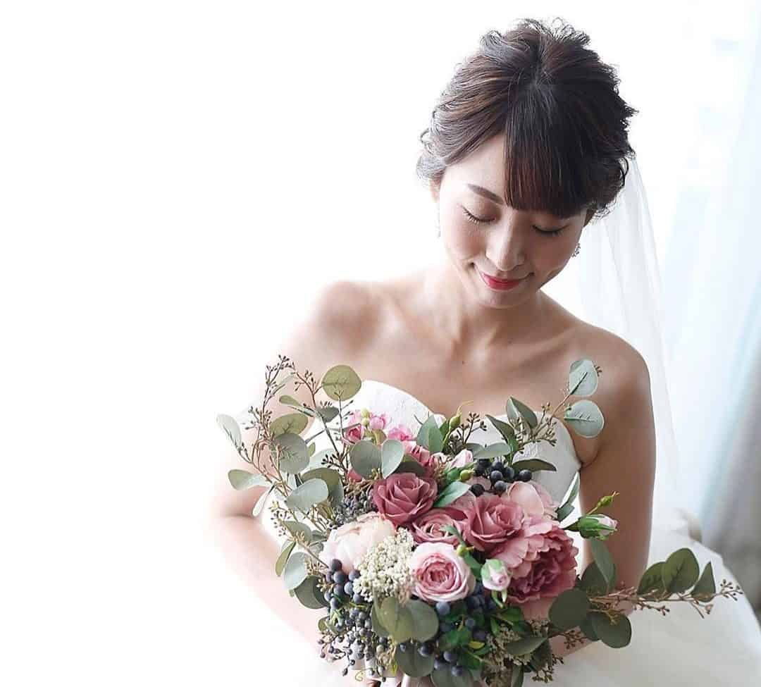 最旬♡アーティフィシャルフラワーのブーケ10選*のカバー写真