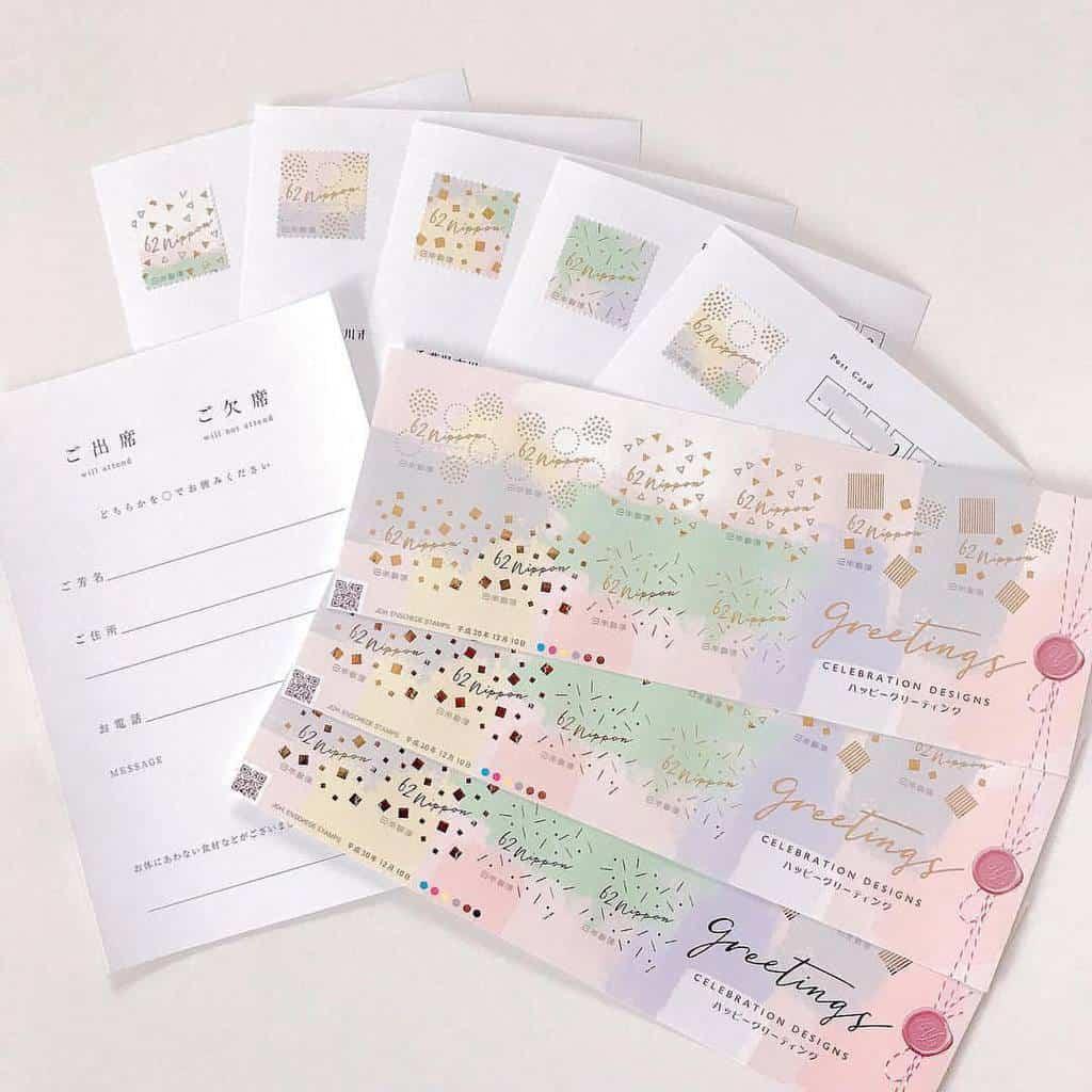 招待状は切手までこだわりたい♡おすすめグリーティング切手*のカバー写真 1