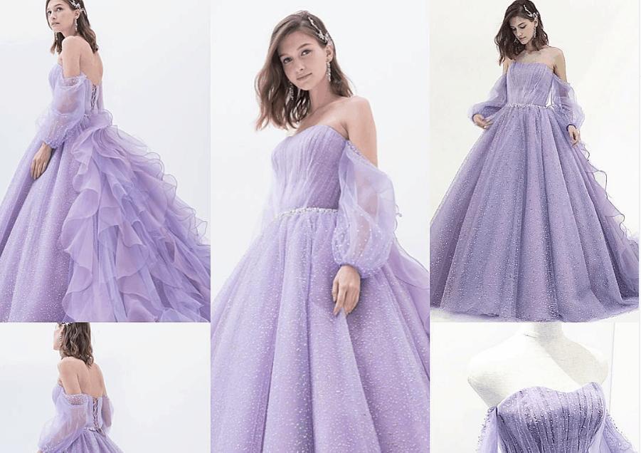 ウェディングドレスだけじゃない♡人気の袖付きカラードレス10選のカバー写真