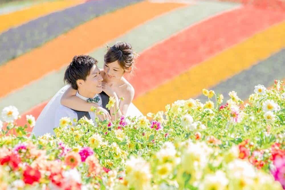 これから夏に向けて撮りたい♡おすすめのお花畑前撮りショット15選のカバー写真