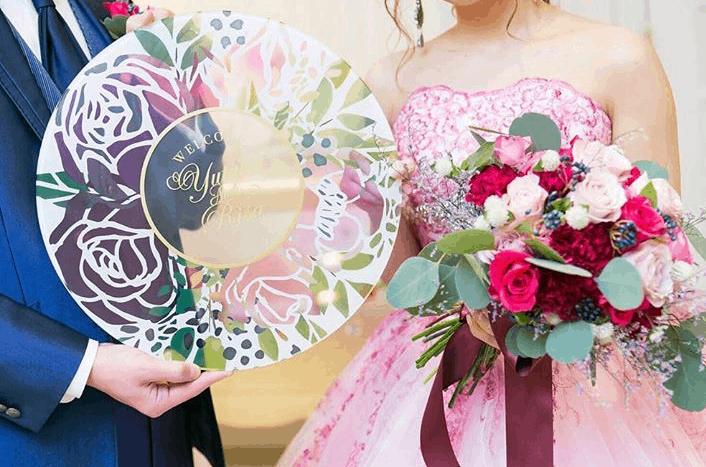 透け感が可愛い♡@vildwelcomeboardの結婚式に使いたいアイテム10選のカバー写真
