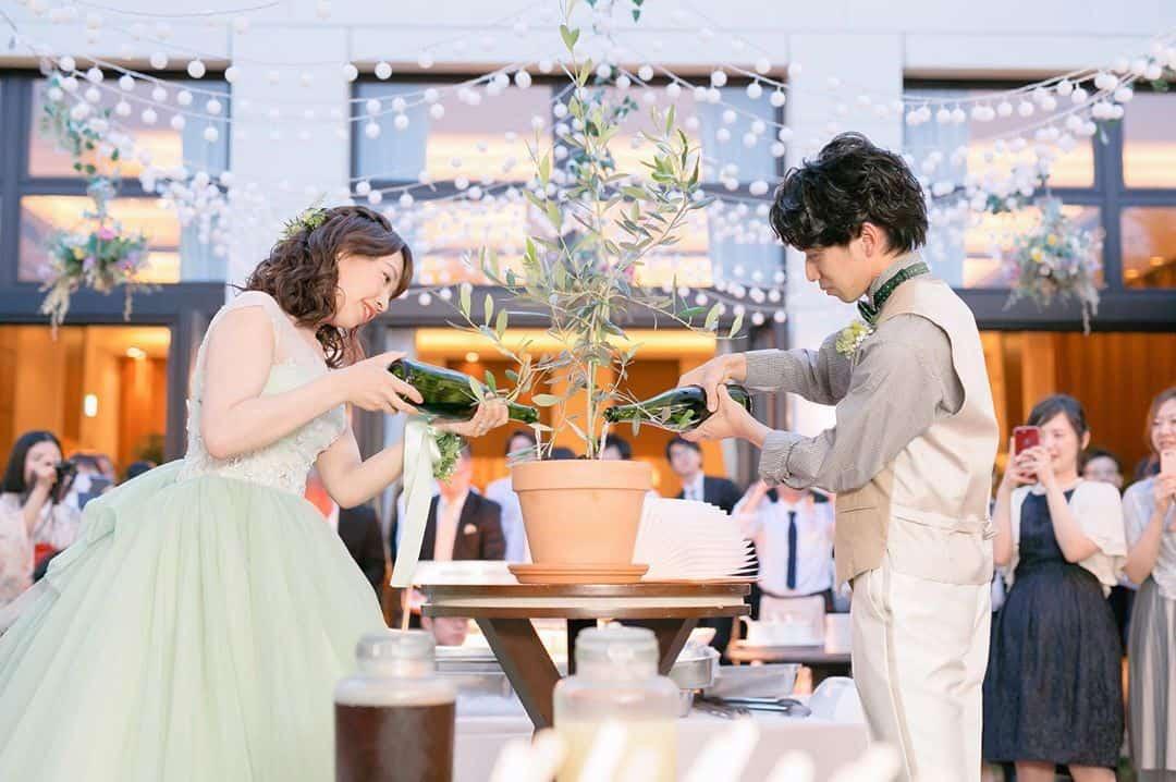 水合わせの儀って?結婚式演出の王道派から現代風アレンジまで一挙紹介!のカバー写真