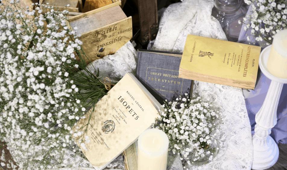 海外花嫁さんみたい♡洋書を使ったおしゃれな装飾アイディア10選のカバー写真 0.5934873949579832