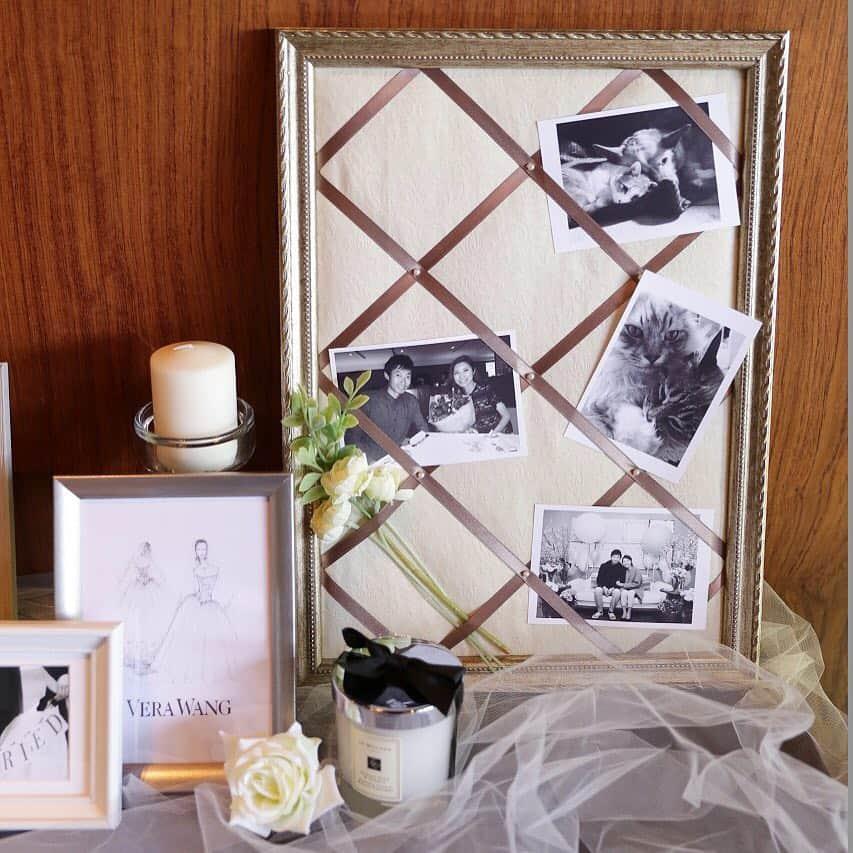 100円均一で揃う!結婚式DIY【ペルメル】リボンがかわいいウェルカムボード♡のカバー写真