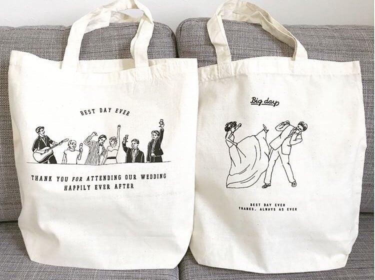 結婚式後も使ってもらえる*マネしたい引き出物トートバッグ10選のカバー写真