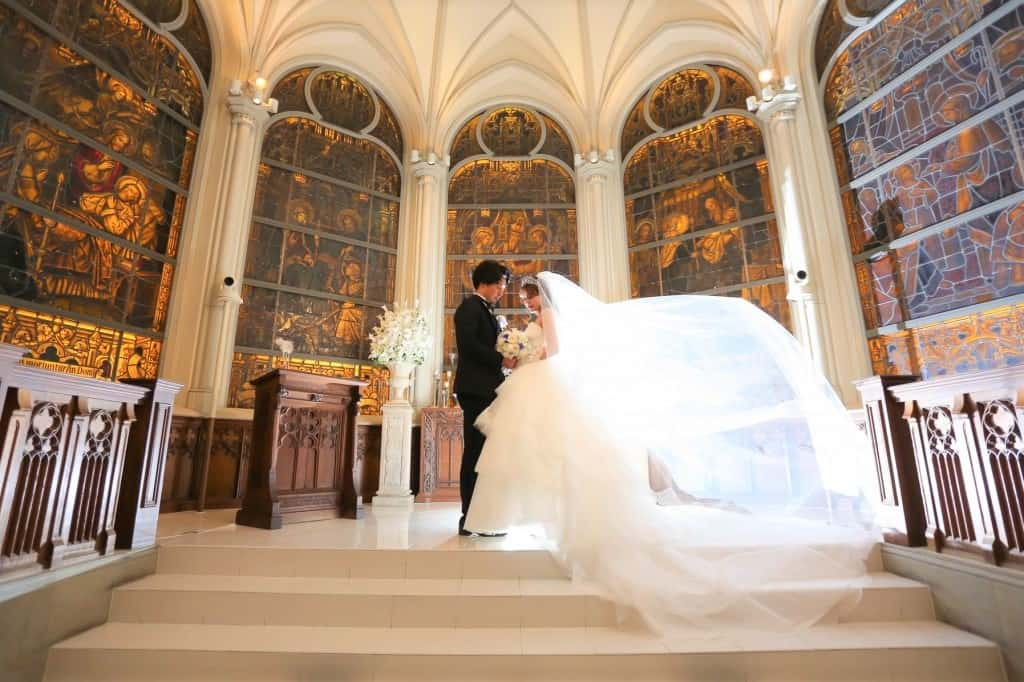 マイレポ花嫁さんから見つけた♡素敵すぎるチャペルショット10選のカバー写真 0.666015625