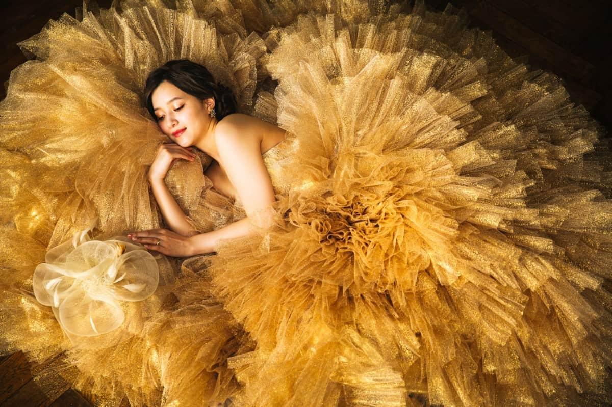 【ボールガウン】ドレスで憧れのプリンセスに♡ふわふわドレス20選のカバー写真 0.6658333333333334
