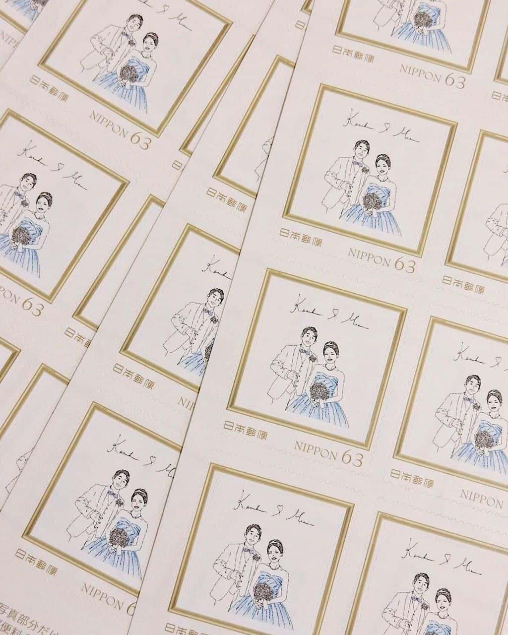 LINEで招待状のオリジナル切手が作れるって知ってた?封筒もおしゃれにDIYしよ♡のカバー写真