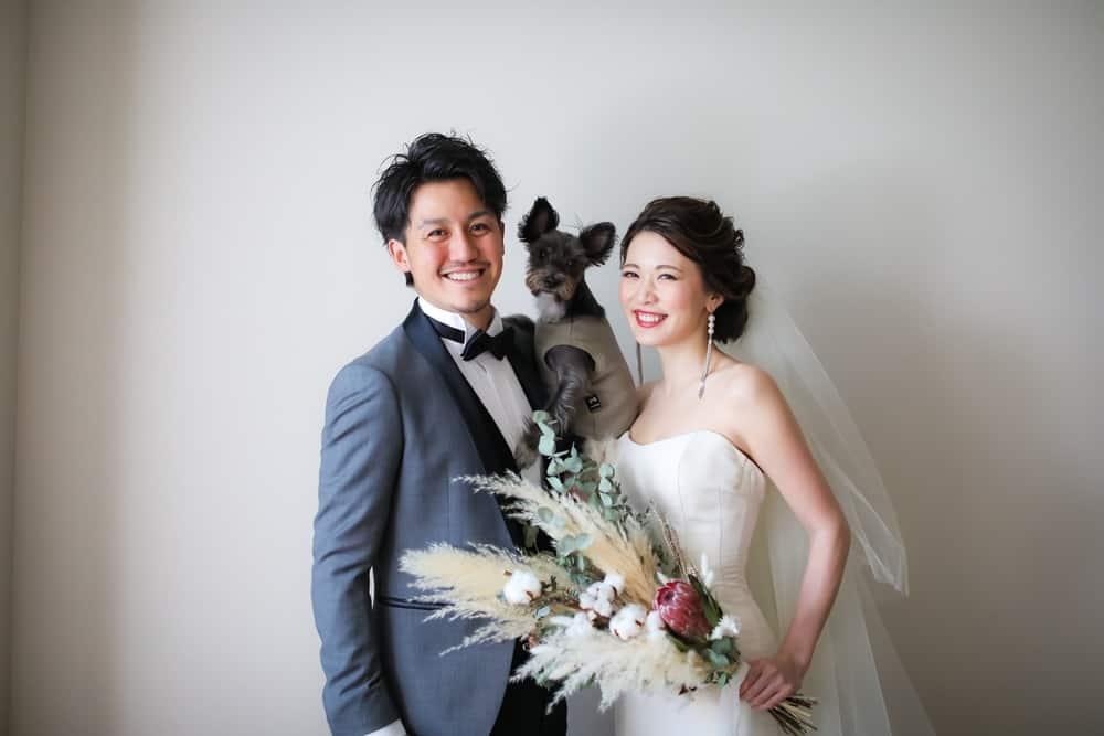 愛犬と一緒に祝うウェディングフォト♡卒花さんのおすすめショットご紹介*のカバー写真 0.667