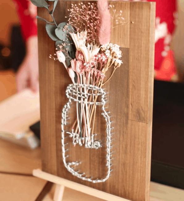 釘と糸でつくる【ストリングアート】が花嫁に人気!実例20選を紹介♡のカバー写真 1.092281879194631