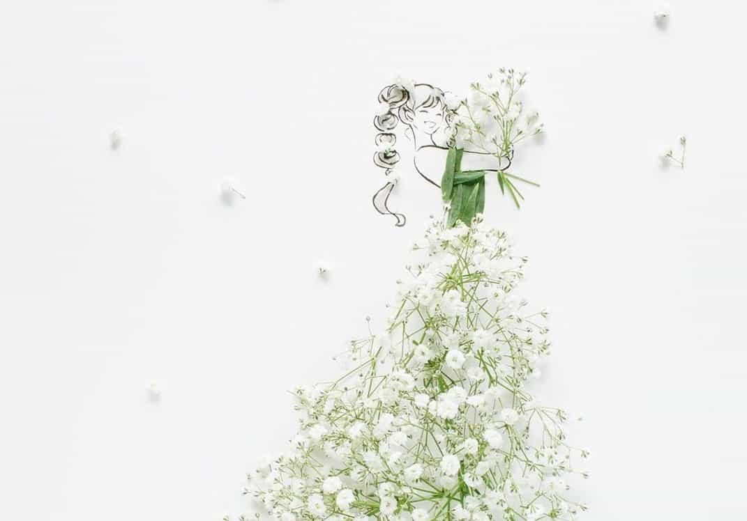 可愛いお花がそのままドレスになった!FLOWERY FIELDSの花言葉ドレスを大特集*のカバー写真