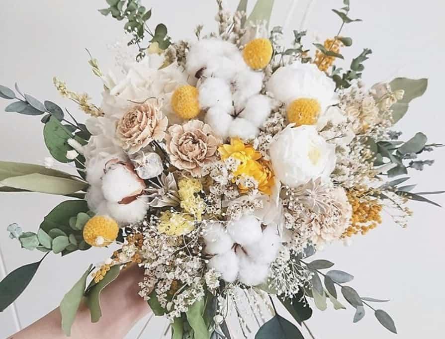 装花やウェディングブーケに♡ふわもこなコットンフラワーがとても可愛い♡のカバー写真